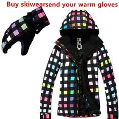 99.71$  Watch now - http://ali0l5.worldwells.pw/go.php?t=32419600155 - 2016 New high quality women's ski suits windproof proof winter water ski jacket +  Send you warm gloves