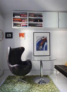 "Marta's 350 Square Foot White Space  ""The BOOKSHELVES"""