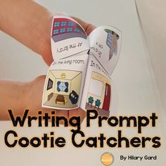 Get your kiddos excited about writing with Writing Prompt Cootie Catchers! My kiddos LOVE using cootie catchers. They are always excited to see what stories they can come up with using the settings, characters, and plot suggestions on these fun, hands o Kindergarten Writing Prompts, Writing Prompts For Writers, Work On Writing, Picture Writing Prompts, Writers Notebook, Writing Lessons, Writing Resources, Teaching Writing, Writing Centers