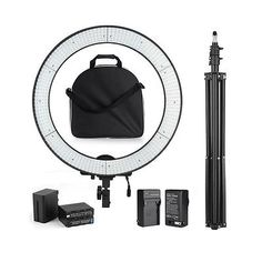 600PCS LED Adjustable Video Photography Ring Light Kit +Stand +F970 Battery +Bag - http://cameras.goshoppins.com/lighting-studio/600pcs-led-adjustable-video-photography-ring-light-kit-stand-f970-battery-bag/