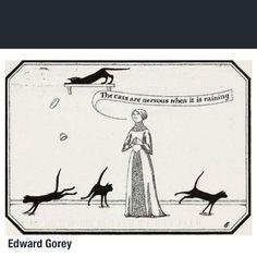 Edward Gorey, artista estadounidense. Edward Gorey, Videos, Photo And Video, Instagram, Gatos, Cat Illustrations, Artists