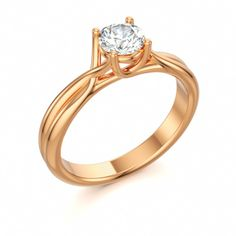 CLIMAX | Solitaire Engagement Ring with Diamond vvs1/F in 18k Rose Gold
