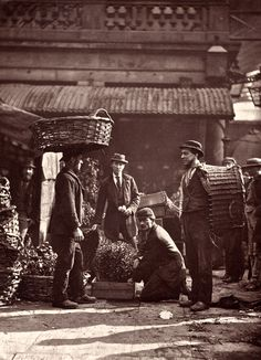 "Photographs of London street life by Scottish photographer John Thomson. Thomson was one of the first westerners to take photographs of the Far East. Upon his return to England in 1872, a number of his photographs of London street life were published in the magazine ""Street Life in London"" between 1876 and 1877."