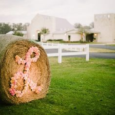 "How cool would this be with your wedding color and the letter ""W"" outside the hall?"