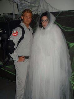 Ghost and Ghostbuster   Couples Halloween Costumes