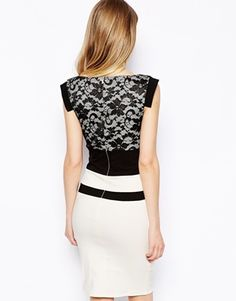 Tempest Ollie Dress With Contrast Lace Top