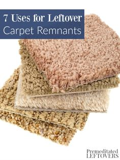 7 Uses for Leftover Carpet Remnants 7 Uses for Leftover Carpet Remnants- There are all sorts of ways carpet remnants can be used around your home. Give these practical solutions a try! Carpet Remnants, Hallway Flooring, Carpet Padding, Hallway Carpet Runners, Carpet Samples, Carpet Trends, Carpet Ideas, Diy Carpet, Carpet Colors