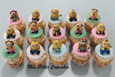 Girly Minions Cupcakes