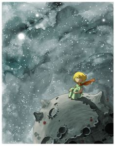 – the Little Prince – Fine Art color archival print – Beautiful Space Painting Art Carte, Space Painting, 70th Anniversary, Art Original, The Little Prince, Children's Book Illustration, Fine Art, Illustrators, Fairy Tales