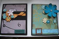 Graduation photo cards, flowers, ribbon,