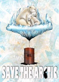 Illustrazione originale di Marisa Minervini per la campagna #SaveTheArctic di Greenpeace