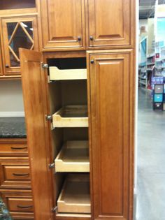 Tall Kitchen Cabinet With Pullout Drawers Pantry When I Move The Fridge