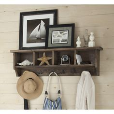 "Laurel Foundry Modern Farmhouse 60"" Drifted Gray Wall Mounted Coat Rack & Reviews 