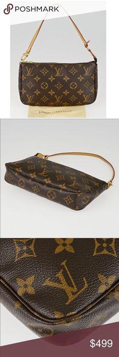 Auth ✅Louis Vuitton pochete ❤️Shoulder bag Lv Pochette, Pochette Louis Vuitton, Louis Vuitton Monogram, Louis Vuitton Handbags Sale, Leather Mask, Leather Cover, Authentic Louis Vuitton, Shoulder Strap, Essentials