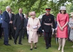 hebritishnobility:  State Visit to Northern, Ireland, June 24, 2014-Queen Elizabeth and the Duke of Edinburgh attended a Garden Party at Hillsborough Castle, Belfast