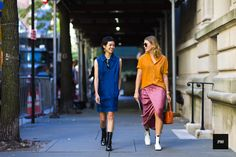Streetstyle of Patty Lu and Megan Bowman Gray during New York Fashion Week Spring Summer 2017