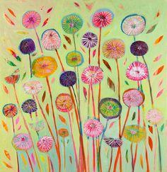 1 O'Clock by Shyama Ruffell - art print from King & McGaw Clock Art, Oclock, Textile Design, Canvas Art Prints, Online Art, Flower Designs, Flower Art, Framed Art, Floral