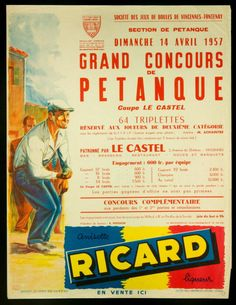 ESTAMPE - GRAND CONCOURS DE PETANQUE