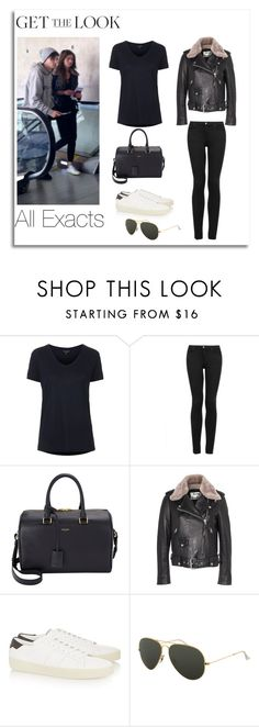 """""""Eleanor Calder and Louis Tomlinson at LAX airport"""" by lifeisworthlivingagain ❤ liked on Polyvore featuring Topshop, Yves Saint Laurent, Acne Studios and Ray-Ban"""