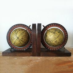 Globe Bookends, $90, now featured on Fab.