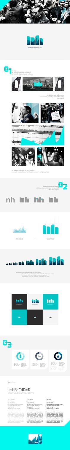 Nervous Horizon by Massimo Missoni, via Behance #visualidentity #branding #graphicdesign