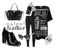 """""""Patent Power"""" by dakini-cobra on Polyvore featuring Valentino, Yves Saint Laurent, Furla, Kenzo, Marc Jacobs and Armani Exchange"""