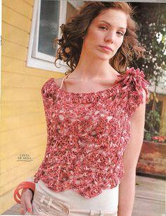 Crochetemoda: Crochet - Capa Mesclada