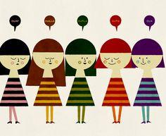Blanca Gomez print.  Les Filles Onomatopees02