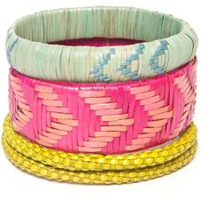 Indego Africa Large Swamp Grass Bangle ($28) ❤ liked on Polyvore