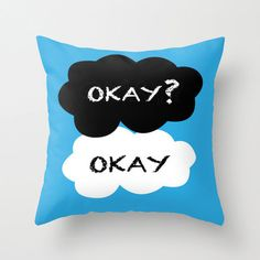 The Fault in Our Stars Okay Okay. Cushion Throw by AlixInsanity, £15.00