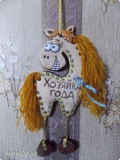 Поделка изделие Новый год Лепка Продолжение лошадиного бума -  Тесто соленое фото 2