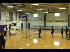 Basketball Shooting Machine - The Gun - by Shoot-A-Way Shot Fake Drill f...