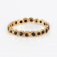 yellow gold, black diamonds. Satomi Kawakita