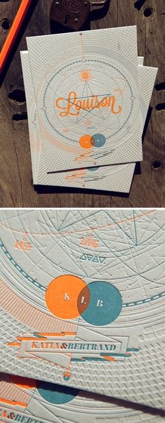 Faire-part naissance letterpress imprimé par Cocorico Letterpress / création graphique Les mouches Annecy / Impression recto 2 couleurs plus un débossage à sec