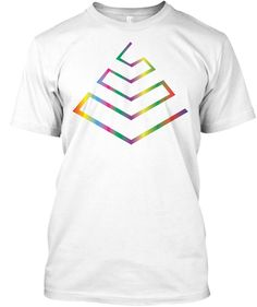 Tshirt Designer   Geometric Arctic White T-Shirt Front