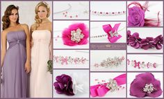 Veromia Bridesmaids gowns with Richard Designs bridesmaid side tiaras, clips & jewellery in fuchsia,amethyst, coral & pink. Bridesmaids, Bridesmaid Dresses, Wedding Dresses, Bridesmaid Accessories, Coral Pink, Amethyst, Gowns, Jewellery, Design