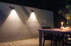 Modern & Stylish Wall Lighting by in-lite! Led Outdoor Landscape Lighting, Black Outdoor Wall Lights, Outdoor Wall Lamps, Pathway Lighting, Wall Lighting, Garden Lamps, Inspiration Wall, Contemporary Landscape, Concrete Wall