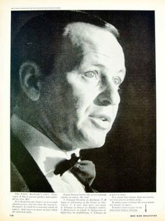 1967 Ad American Cancer Society Public Service Frank Sinatra Warning Signs YHR3