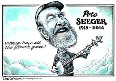 Dave Granlund on the death of folk legend Pete Seeger. Bhagat Singh Quotes, Recent Political Cartoons, Pete Seeger, Folk Music, Satire, Making Out, History, Comics, Artist