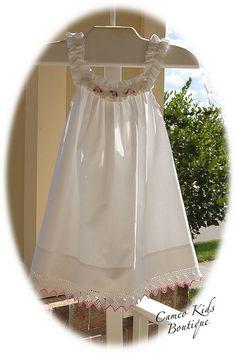 Ruffled Vintage Pillowcase Dress
