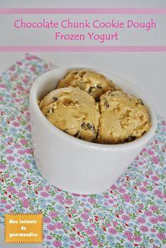 chocolate chunk cookies dough frozen yogurt