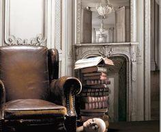 Papier peint boiseries louis xv grises anthracite trompe l 39 oeil pinte - Papier peint trompe loeil ...