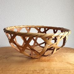 Vintage Japanese Bamboo Bowl via swimsuit department- bamboo, vintage, bowl