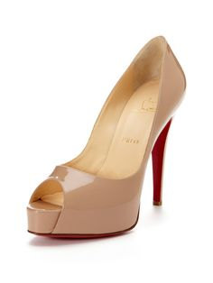 Christian Louboutin Hyper Prive Peep-Toe Pump
