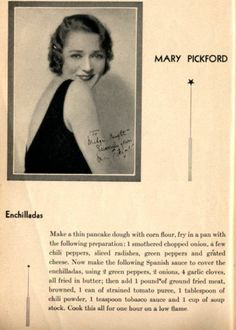 Mary Pickford's Enchiladas recipe