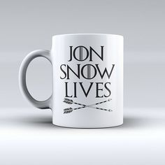 Custom Game of Thrones Mug - You Know Lives - Funny Coffee Mug  * Each Mug is made by order in our studio in The US, it takes 1-2 days.  * The images are made by Sublimation Technique in hard white ce