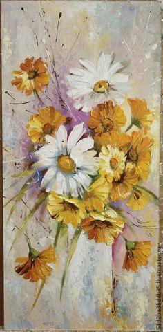 Картины цветов ручной работы. Ярмарка Мастеров - ручная работа. Купить Летнее настроение. Handmade. Разноцветный, картина, картина в подарок