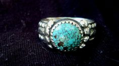 Sterling Silver Turquoise Ring 130 USD by SterlingSilversmith, $130.00