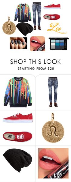 """""""Leo Casual Wear"""" by thecrystalheart on Polyvore featuring Dsquared2, Vans, Pernille Corydon, Free People, Fiebiger and NYX"""