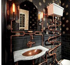 A Loo Fit for Doctor Who: Steampunk Bathroom